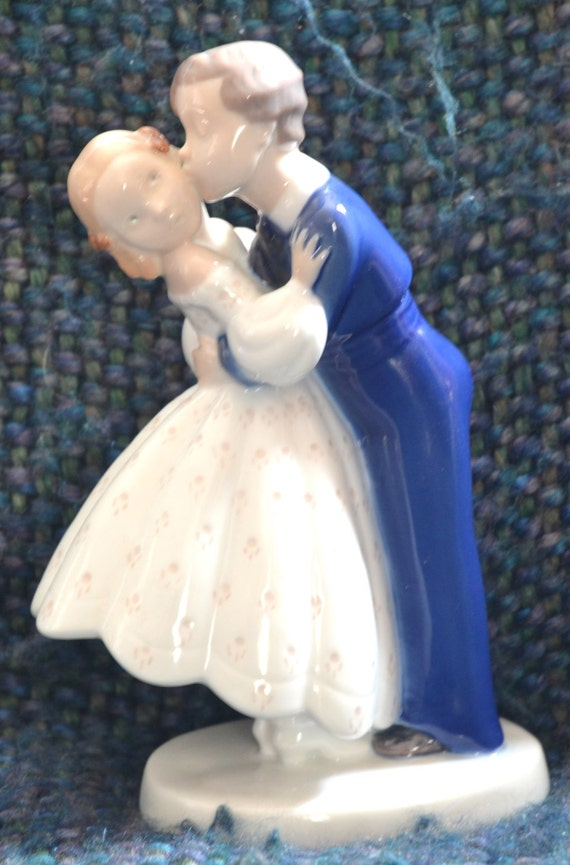 First Kiss Porcelain Figurine Denmark Vintage Mid Century