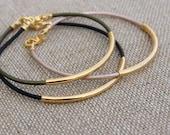 Gold Tube Bracelet