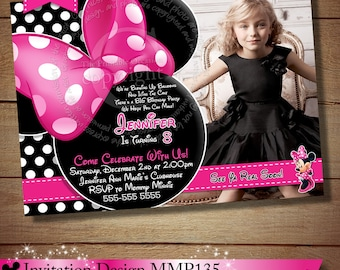 HUGE SELECTION Minnie Mouse Birthday Invitation, DIY Pink Polka Dot Minnie Mouse, You Print Birthday Invitation - The Printable Occasion