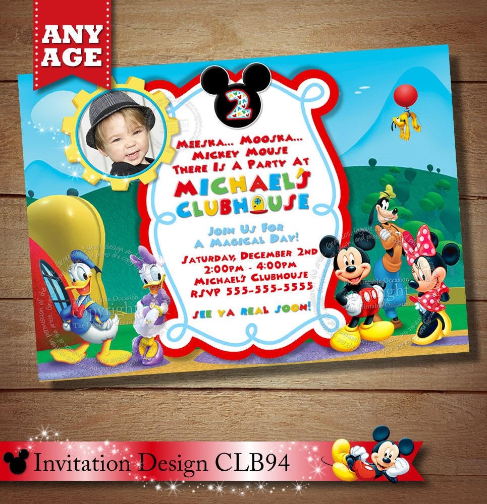mickey mouse birthday party invitation best party ideas