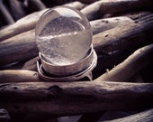 Clear Quartz Crystal Ball Ring - Statement Ring -