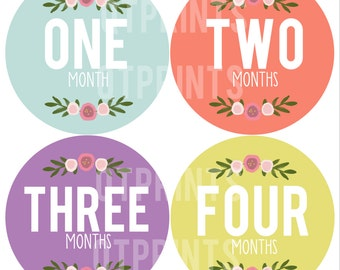 Monthly Onesie Stickers Girl Printable