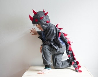 Dragon Costume, Black and Red Children Costume, Party Costume or Halloween Kid Costume Wings, Whispering Death, How to train your dragon