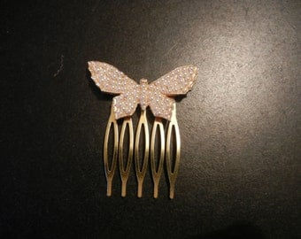 pearl butterfly hair comb
