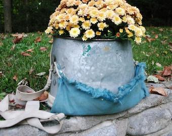 Vintage Apple Picking Bucket