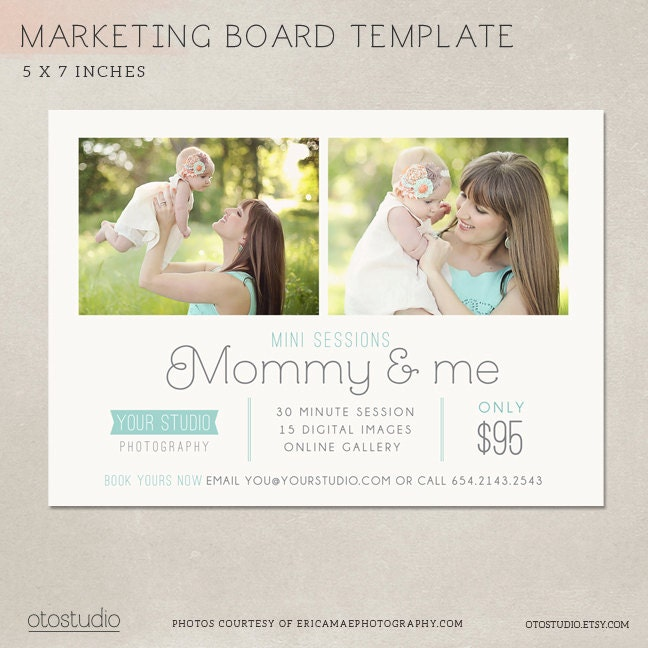 Mother's Day Mini Session Template Marketing Board By