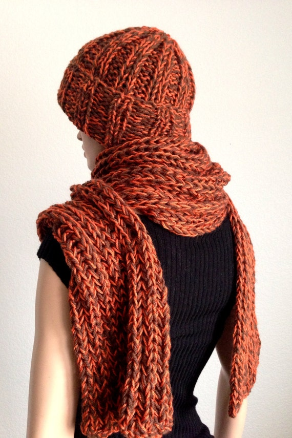 knitted hat and scarf set s handmade winter hat and