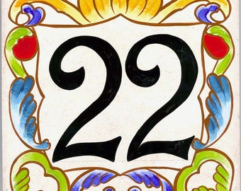 House number plaques, numbers, Small ceramic house numbers, house numbers, house sign, hand painted ceramic house signs