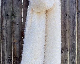 Faux Fur Scarf - Ivory