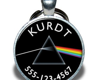 Pet ID Tag - Pink Floyd, Dark Side of the Moon *Inspired*