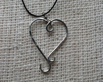 Pendant - Heart Necklace for Portuguese Knitting