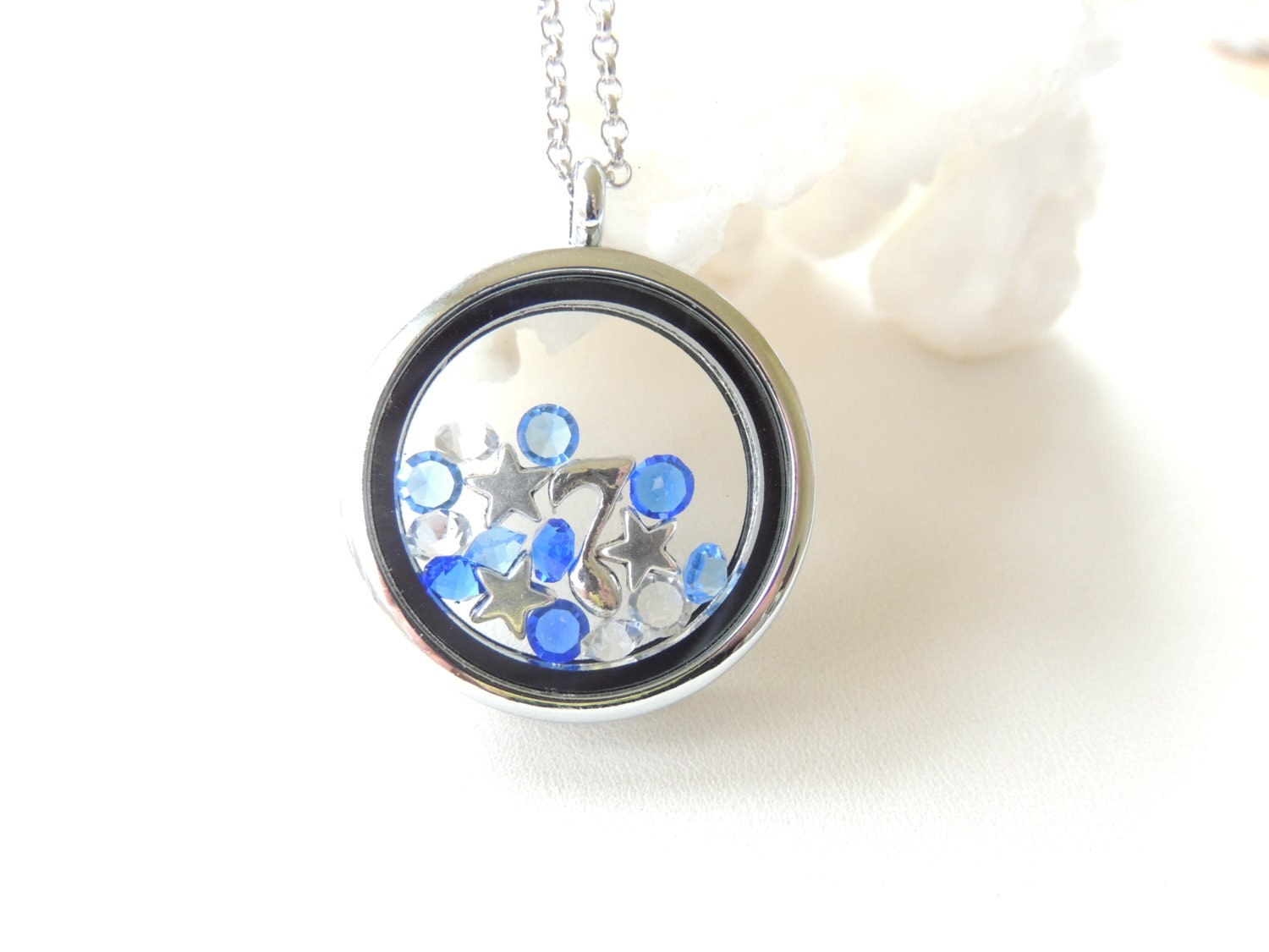 floating charm locket charm necklace by