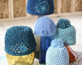 Pattern - WWD75 - Crocheted Openwork Hat