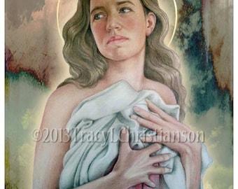 St. Agatha Art Print Catholic Patron Saint of Breast Cancer and Nurses #4049