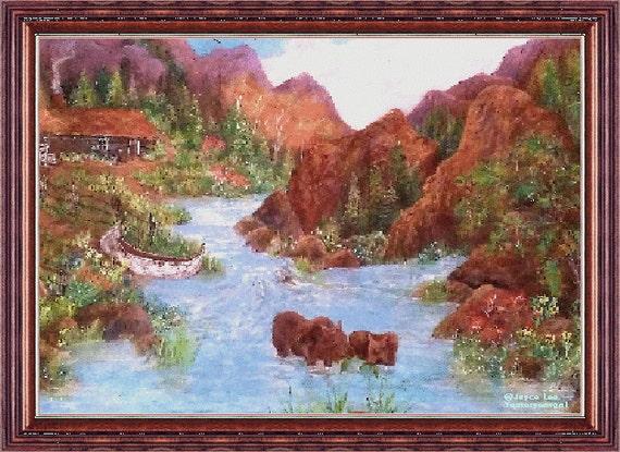 Early Mountain Homestead  16 X 20  Giclee Fine Art Print