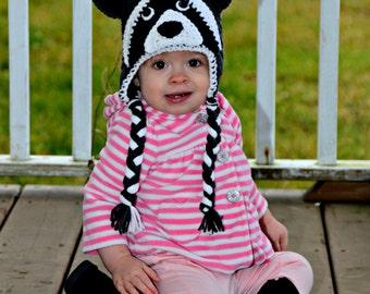 Crochet Raccoon Hat, Baby Crochet Hat, Photo Prop, Raccoon Hat, Crocheted Hats For Kids, Newborn Hats