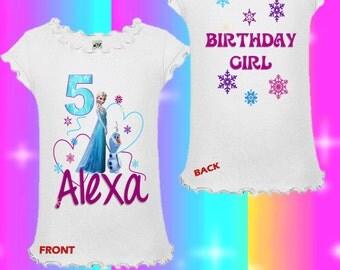 Frozen Birthday Shirt - Elsa Birthday Shirt - Frozen Sibling Shirt