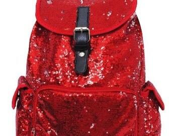 BLING Personalized Sequin Backpack, Sequin Dance Bag, Sparkle Cheer Bag, School Book Bag, Travel Bag, Glitter Backpack, Gifts for Girls