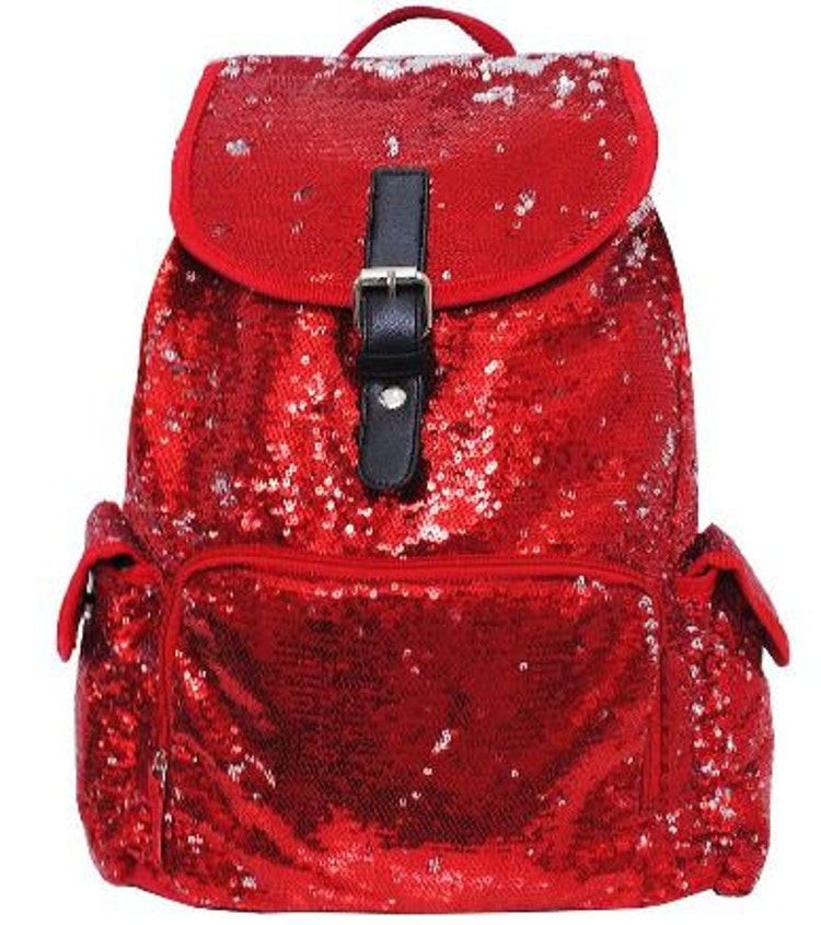 Bling Red Sequin Backpack Free By Threelittlechickadee On Etsy