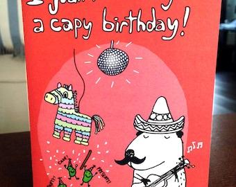 Happy Birthday Capybara Pinata Mexican Jumping Beans