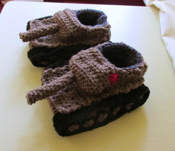 Tank slippers crochet tank Slippers panzer slippers Panzer