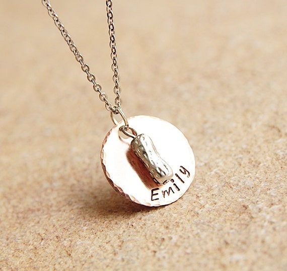 peanut necklace personalized gift by
