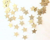 Twinkle Twinkle Star Garland, Gold Shimmer Star Garland, Christmas Party Decor, Holiday Decor, Gold Baby Shower, Gold Star, Star Birthday