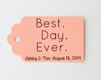 Wedding Tag, Favor Label, Coral Tag, Custom Tag, Personalized Tag, Rustic Tag, Gift Tag, Paper Tag, Kraft Tag, Wish Tree Tags