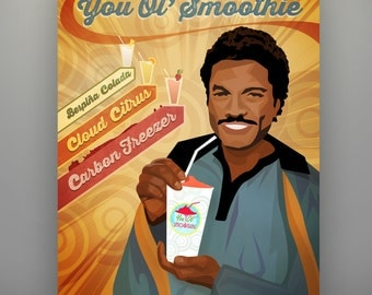 "Star Wars Inspired ""You Ol' Smoothie"" 11X14 Lando Calrissian Art Print by Herofied Poster"