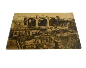 Rome Italy Vintage Postcard . Foro Romano, Roma . Old Rome Postcard . Italian Postcard . Vintage Postcard . Old Postcard .