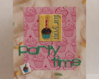 Party Time Happy Birthday Card