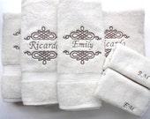 YOU PICK Size Personalized Bath Towels, hand towel, bathroom, personalized gift, embroidered  towels, bathroom, wedding gift, custom towels,
