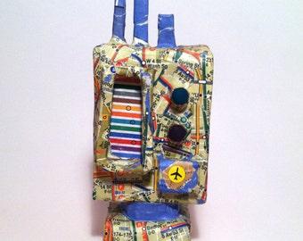 Paper Mâché Robot2.  Robots of 1995 Collection
