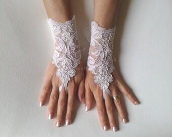 Wedding Gloves, Wedding, Bridal Gloves, Fingerless Gloves, Ivory, Wedding accessories, alencon lace glove