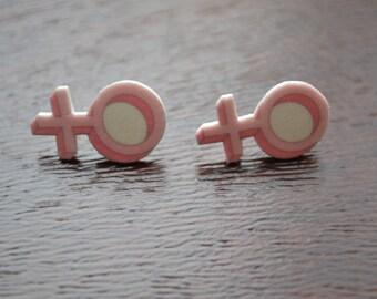 Female Symbol Earrings