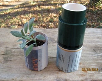 Paper Pot Maker - Perfect Seed Starter - Great Garden Addition - Green!