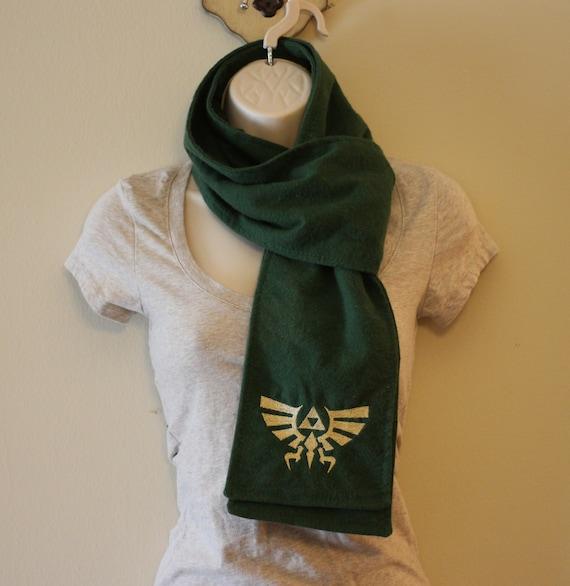 SALE Triforce Green Flannel Scarf