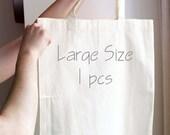 Blank Tote Bag -Blank Canvas Tote Bag - Recycle Tote Bag - Large - READY TO SHIP - Plain Tote Bag - Tote Bag Supplies - Organic Bags