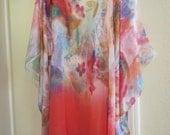 Caftan, Silk Crepe Kaftan, Womens silk Caftan,  Silk Dress, Womens Tunic