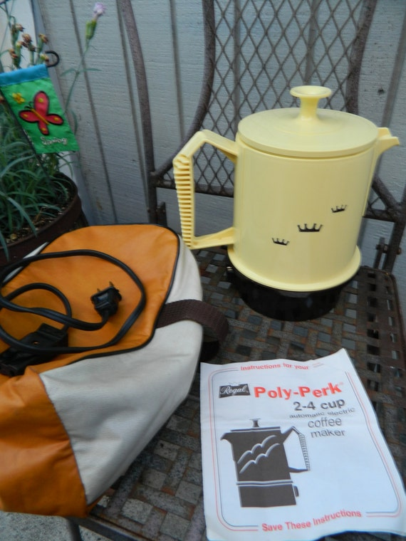 Regal Coffee Maker Instructions : Retro Automatic Percolator by Royal Poly by QuirkyCrowsVintage