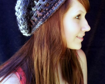 Ashes Adult-Sized Crochet Slouchy Hat - Taking Orders