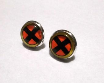 Xmen inspired earring studs