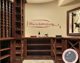 Kitchen Decor Wine Wall Decal Kitchen Wall Decal Wine Wall Decor Wine
