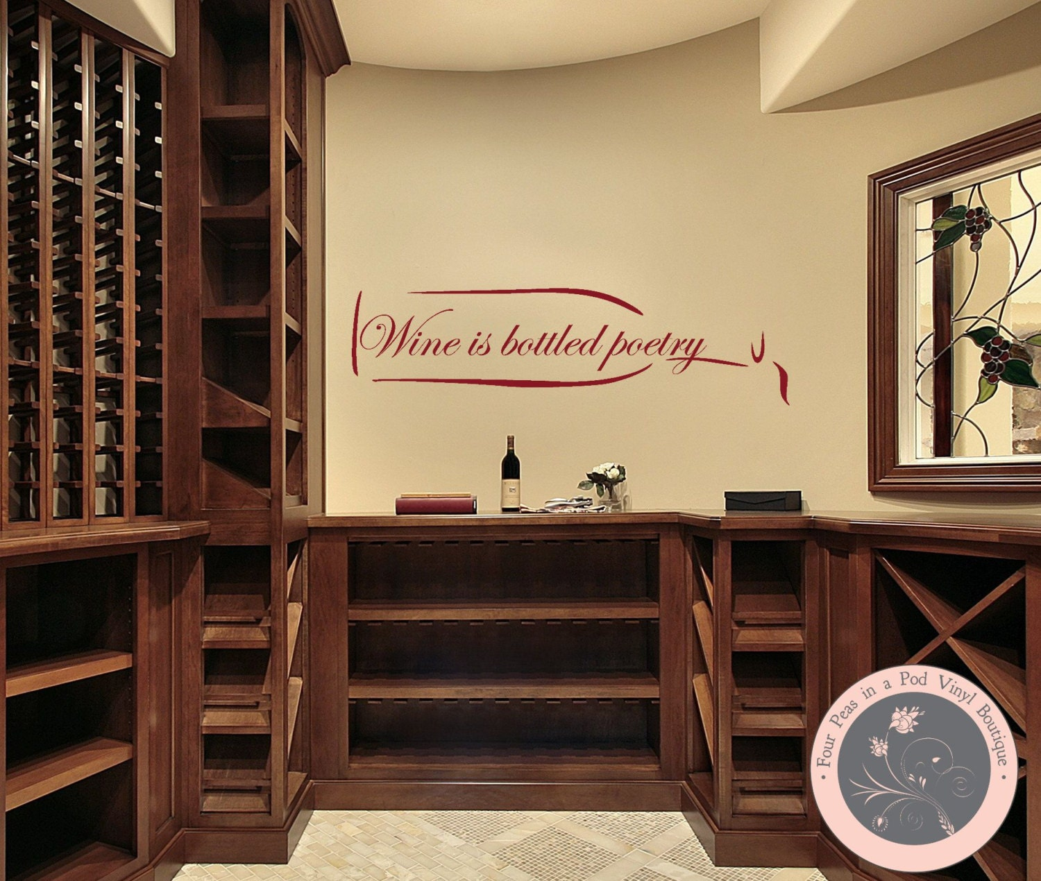 Kitchen Decor Wine Wall Decal Kitchen Wall Decal Wine Wall