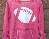 Football Girly Pullover Hoodie Sweatshirt Women's SMALL