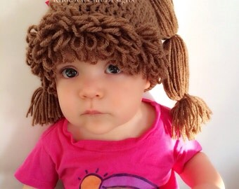 PDF Pattern - Cabbage Patch Inspired Hat - ALL SIZES - Newborn to Adult