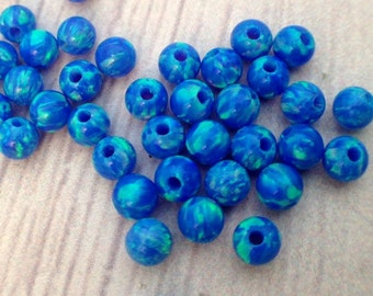 3MM Opal beads / loose opal beads / tiny seed beads / dark blue opal / Spacer beads / gemstone beads / October birthstone / 100 pcs Bulk