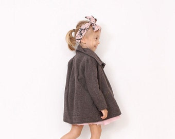 Little toddler COAT pattern - pdf children sewing patterns - sizes 3 to 8 years