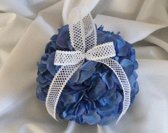 Wedding Kissing Ball Pomanda Blue Hydrangea