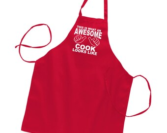 Aprons for Women Kitchen Apron Womens Apron Cute Aprons Funny Apron for Women or Men Christmas Gift Gifts for Mom Gifts for Grandma